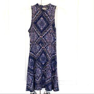 One clothing blue mini dress